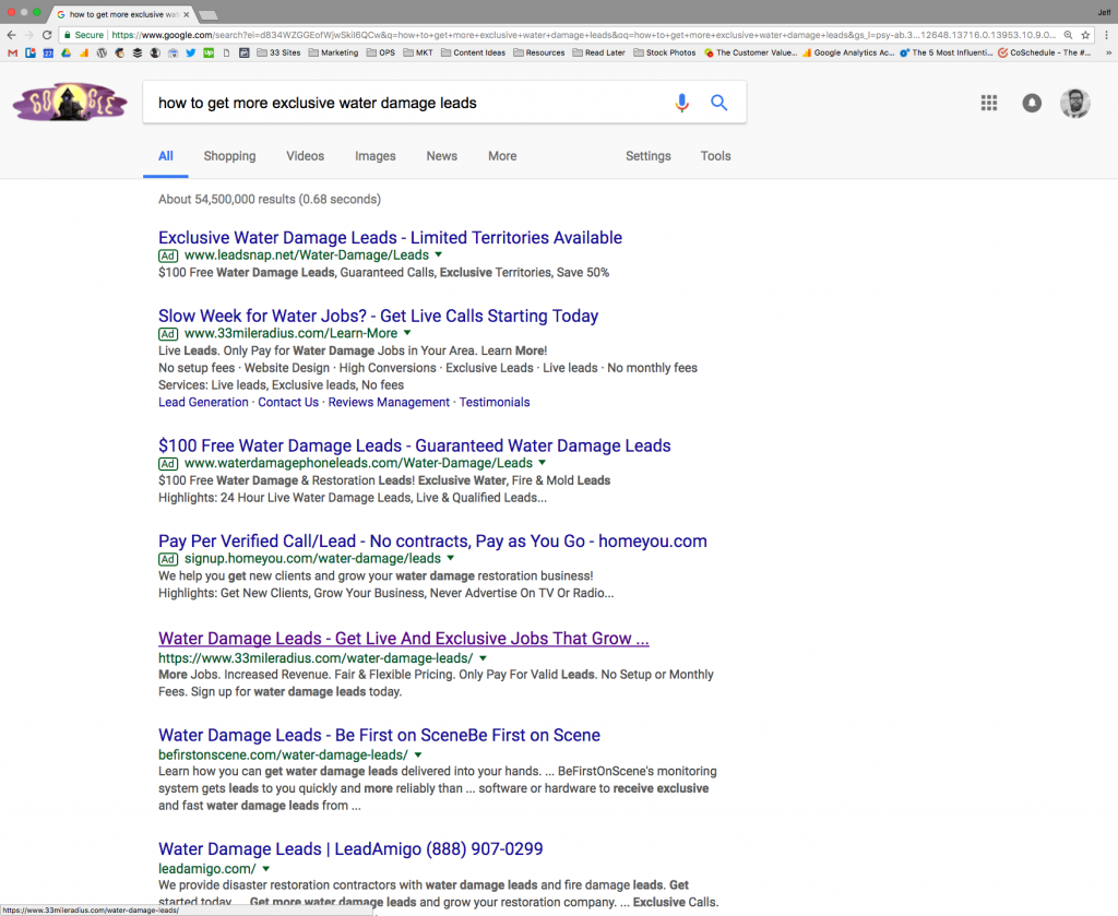 Example of Search Engine Optimization and Search Engine Marketing